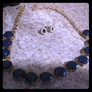 Navy jewelry set